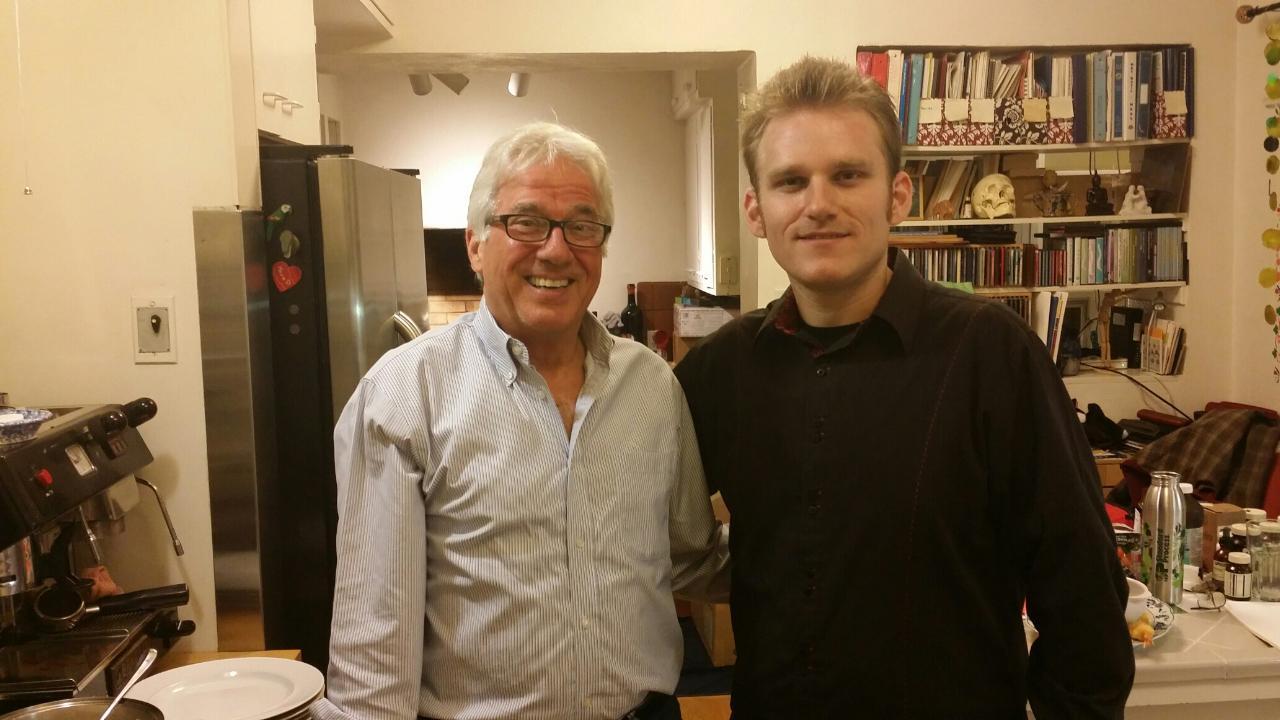 Matt with trumpeter John Thomas