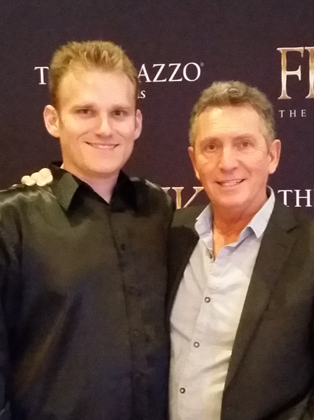 Matt with Las Vegas Hall of Fame Entertainer Bob Anderson
